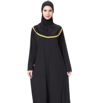 2019 New Arrivals Dubai Muslim Women Daily Casual Pray Long Sleeve Islamic Maxi Dress With Hijab Abaya