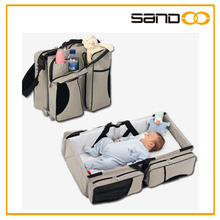 2016 new fashion folding travel cot bag for baby, baby sleeping bag knitted