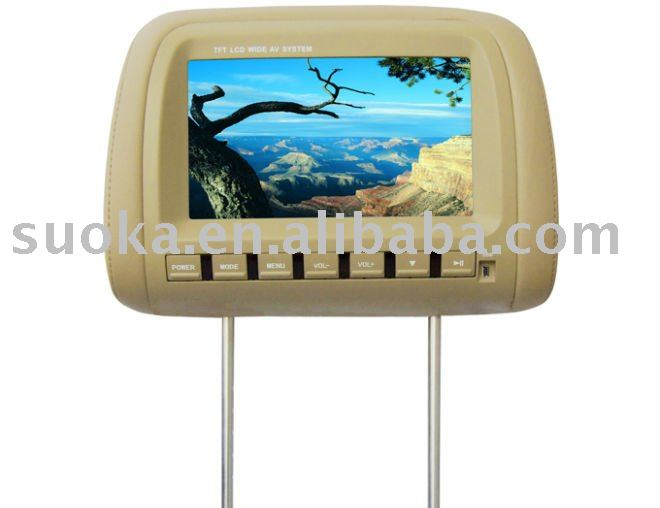 9 INCH HEADREST TFT LCD MONITOR/DVD PLAYER