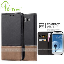 PU leather case for samsung galaxy s3 case wallet , card slots case flip cover for samsung s3