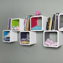 flexible colorful small wall shelf