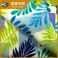 printed polyester flannel fabric for blanket made in china