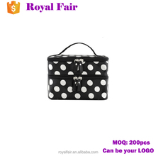 storage organizer box beauty case cosmetic bag with mirror
