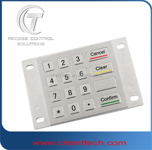 4x4 waterproof metallic keypad stainless steel keypad atm keyboard