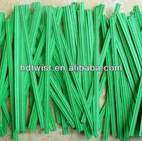 Green Paper Twist Tie /Paper twist ties/ Gift Bag Closure
