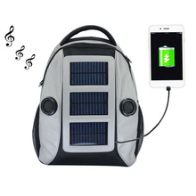 cheap solar system bag popular waterproof solar backpack with speakers