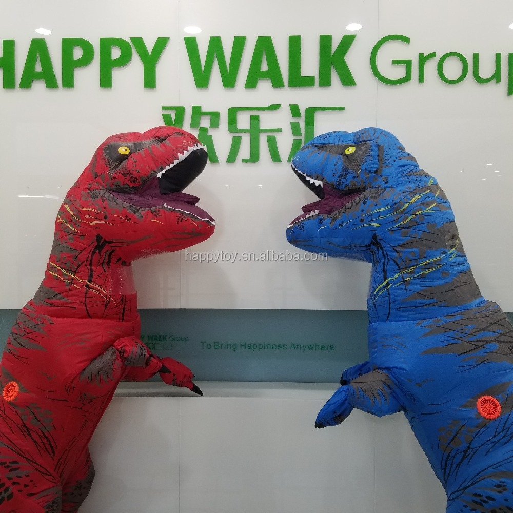 Happy Island promotion inflatable animal costume battery pack for inflatable costume t-rex costume inflatable for sale