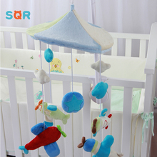 Rotating Plastic Crib Bell Toys Crib Cradle Hanging Bed Musical Toy