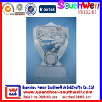 best selling resin custom made popular sports football shoot trophy