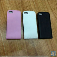 New Simple Flip up and down Genuine Leather Back Hard Case Cover For iphone5C--P-IPH5CCASE027