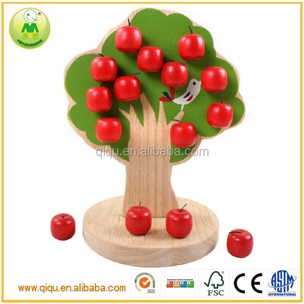 Best selling toys 2014 magentic apple tree children wooden toys