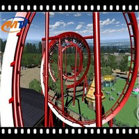 Roller coaster 5D cabin cinema amusement park equipment racing simulator 7D cinema red blue 3d movie 9D cinema