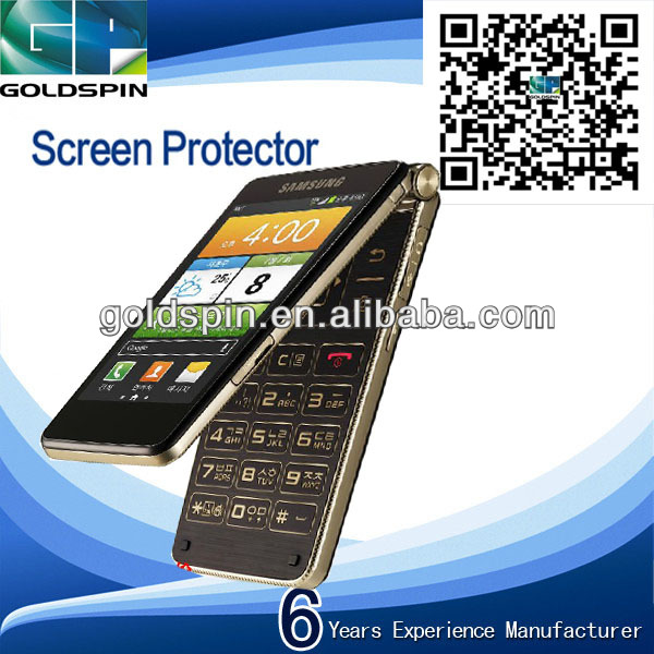 Manufacturer!High Quality Perfect Fit Clear Screen Protector For Samsung Galaxy Golden E400