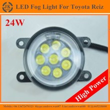 High Power Angel Eyes LED Fog Light for Toyota Reiz Factory Direct LED Fog Lamp for Toyota Reiz 2010-2015