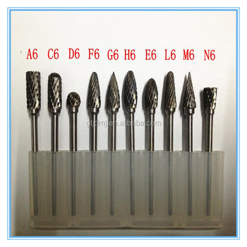 Durable Tungsten Carbide Burrs of Differ Shape
