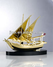 crystal arab dhow with souvenir