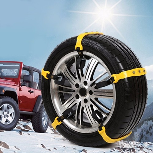 2016 Latest Cheap high quality 10 PCS Car Snow Tire Anti-skid Chains White Chains For Family Car(Medium Size)
