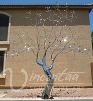 china supplier metal stainless steel tree sculpture for garden decoration