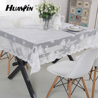 net cloth flower pattern embroidery table cloth