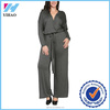 Yihao 2015 wholesale Women's sexy onesie Plus Size Deep V-neck adult Jumpsuit