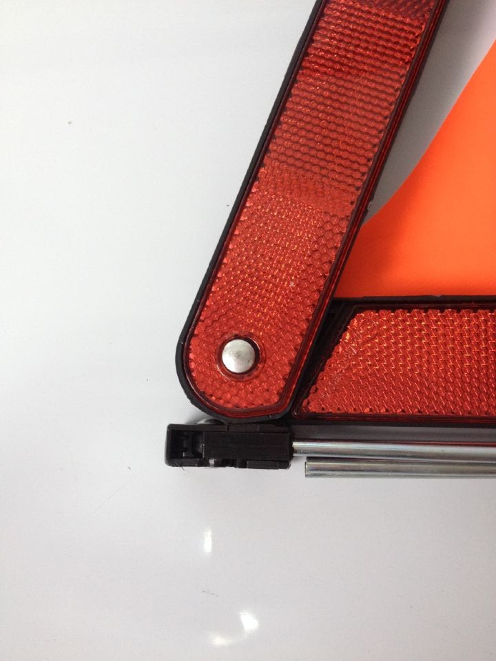 red safety reflective warning triangle for emergency with E-Mark JM-D7-01