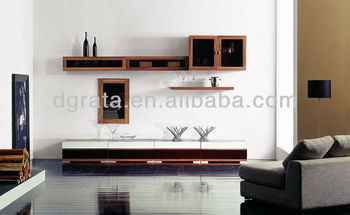 2013 modern tv wall units furniture in E1 solid chipboard is designed for living room
