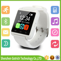 Colorful screen smart watch U8 Bluetooth Wrist phone watch For Samsung