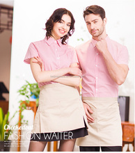pink color 100% cotton modern western hotel best quality chef uniform