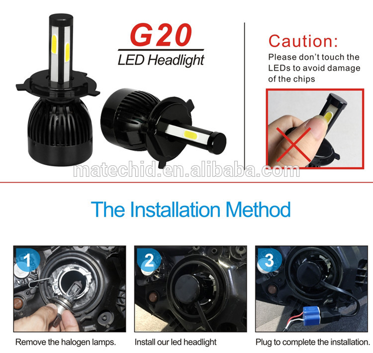 auto part,2018 car led headlight G20 L5S L7 8000lm 55w 75w dual colors RGB LED headlight bulbs H4 9005 9006 H11 H13 led