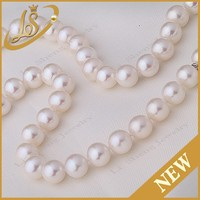 Factory price beautiful Pearl Strand,full hole round pearl necklace