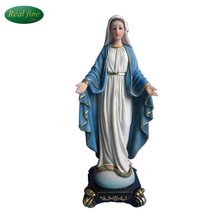 Blue clothes virgin Mary statues on snake for sale