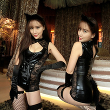 wholesale hot ladies sexy animal photos image leather sexy lingerie night suit ladies sexy lingerie cosplay sex photo