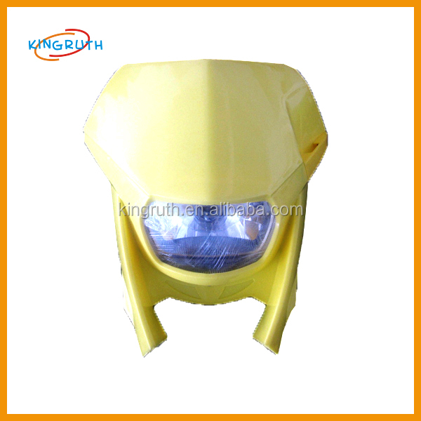 Wholesales hot-selling dirt bike motorcycle universal vision headlight
