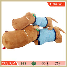 Attractive stufffed and brown fat hippo plush toy for children pillow