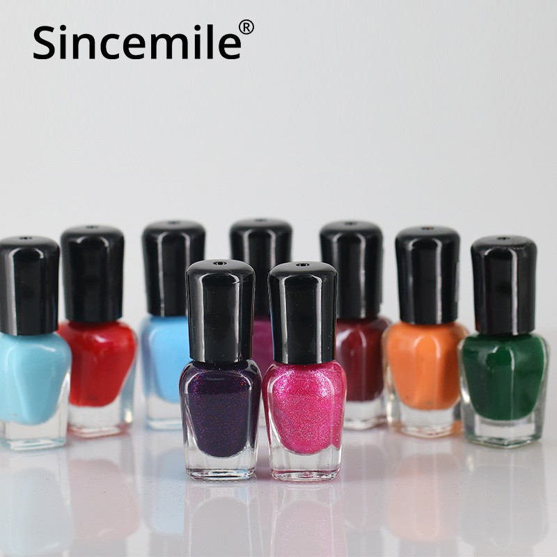 Eight color water based nail polish 3C OEM ODM