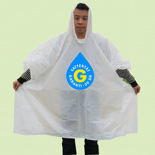 Factory direct sale disposable rain coat/plastic rain poncho for promotion