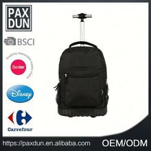 Neutral black 19 inch Slim Laptop Bag With Trolley Strap