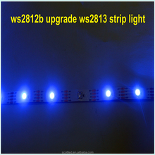 ws2812b upgrade Addressable 5m 60LEDs/m DC5V WS2813 RGB led pixel strip,NON-waterproof,with 60pixels/M;WHITE PCB