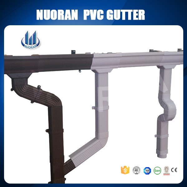 Factory good quality low price white PVC rain gutters