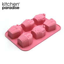 Food Grade Cute cake shaped silicon baking cake mold/mould