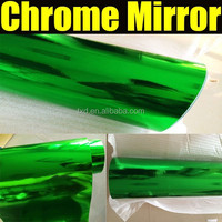 Green color High quality stretchable car chrome mirror vinyl film 1.52*20m/Roll