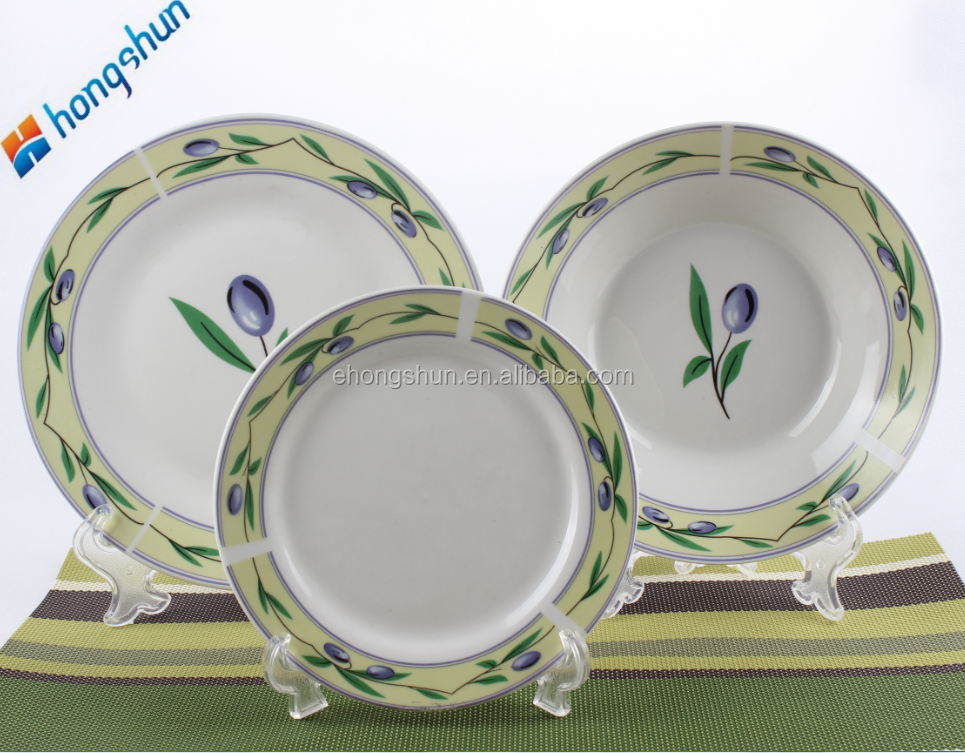 18pc white restaurant porcelain tableware set