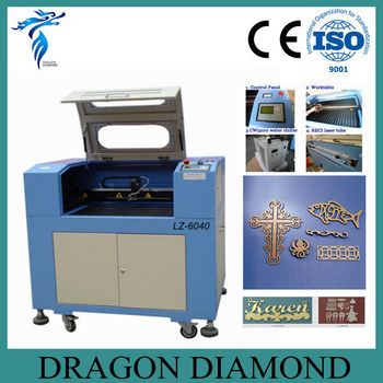 co2 small laser cutting machine/laser engraving machine small size LZ-6040