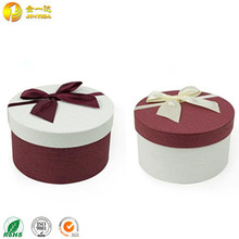 Beautiful Printing Decorated Round Paper Gift Nesting Boxes with Lid