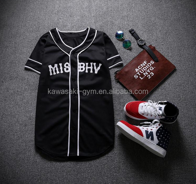 2017 new style cheap fashion custom baseball jersey