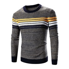 Men 's Round Neck Sweater Business Casual Autumn And Winter Sweater With <strong>Logo</strong>