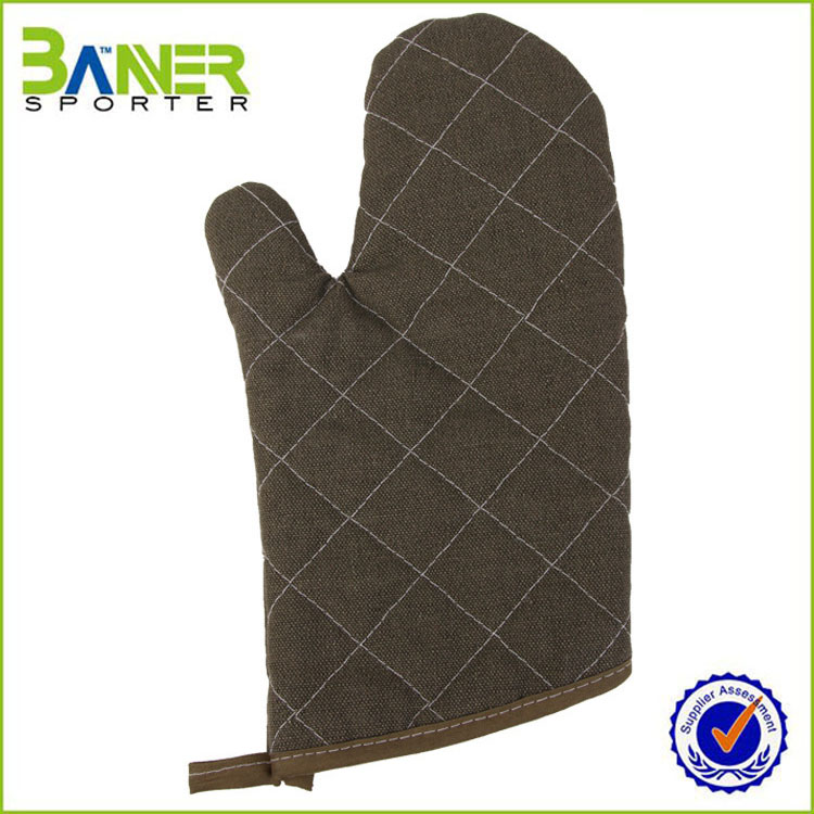 2016 custom microwave retardant canvas oven mitt