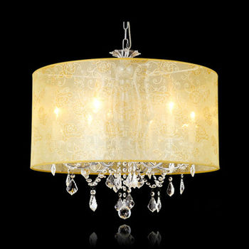 MT-810 High quality modern pendant light with fabric shade