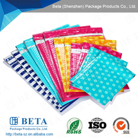 custom printed decorative self sealing plastic poly bubble mailers