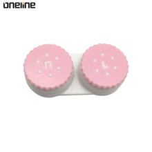 Accept customized fashion contact lenses accessories contact lens case with timer